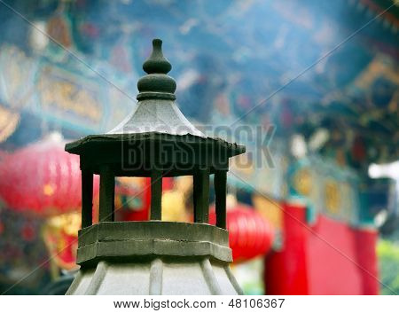 Chinese temple incence cauldron