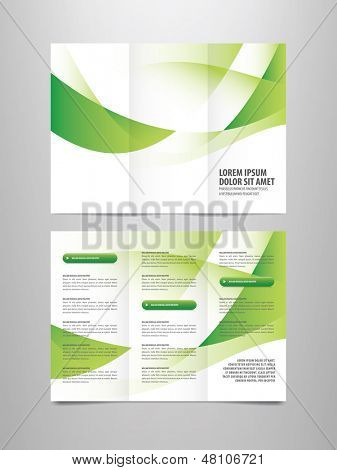 tri-fold business brochure sjabloon