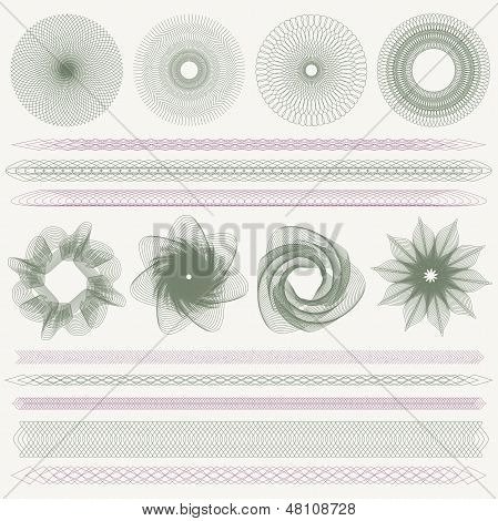 Guilloche pattern (watermarks, borders) for (banknote, money, currency, cheque, check)