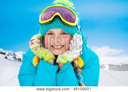 Mountain Skier Girl