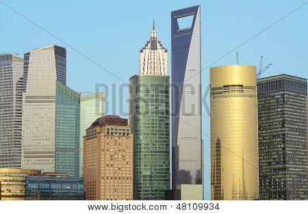 Cityscape Of Shanghai Lujiazui International Financial Center