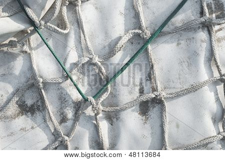 Knotted  Rope And Tarp