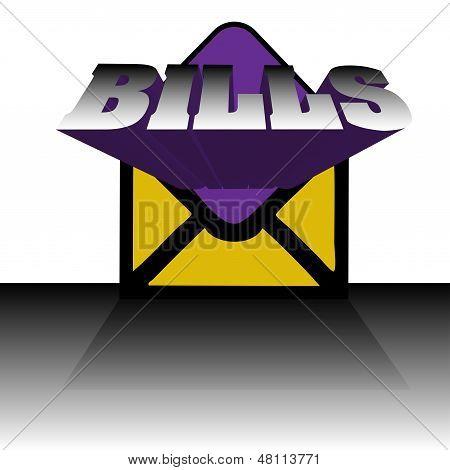 Envelope with bills