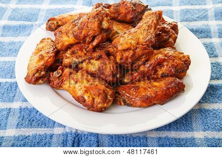 Chicken Wings With Mesquite Sauce