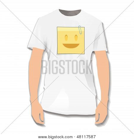 Post Printed On White Shirt. Vector Design.