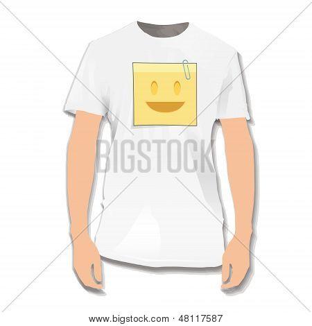 Post Printed On White Shirt. Vector Design.