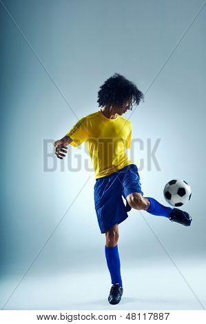 soccer sport skill player practise control with ball