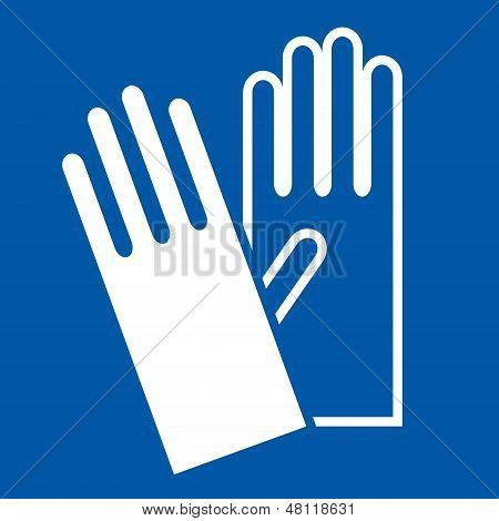 Wear Gloves - Safety Sign