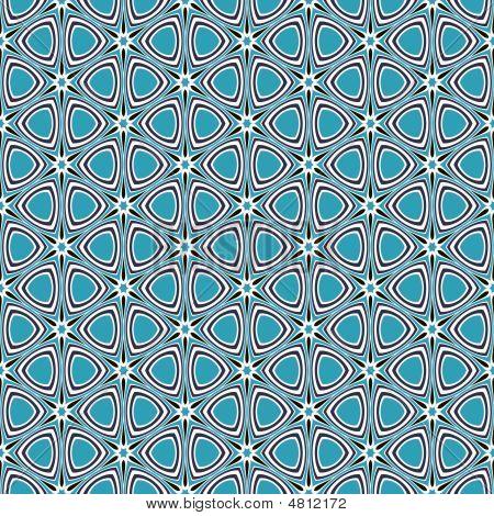 Blue Retro Star Pattern