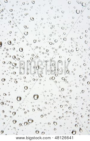 Water Drops On The Window. Abstract Background