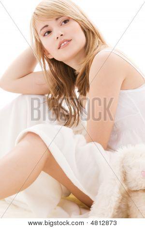 Teenage Girl In Bed