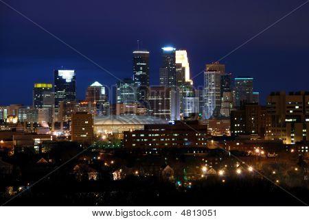 Minneapolis ao entardecer