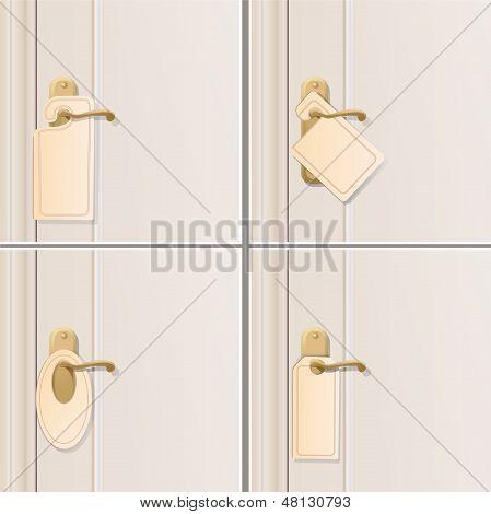 Set of Doorknob. Vector Design.