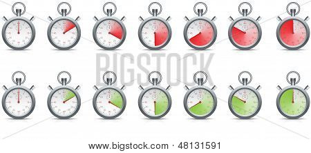 Stopwatch With Time Passing