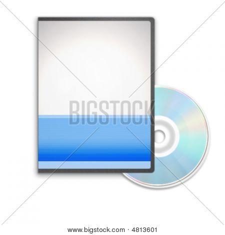 Cd 或 Dvd 盒在白色背景