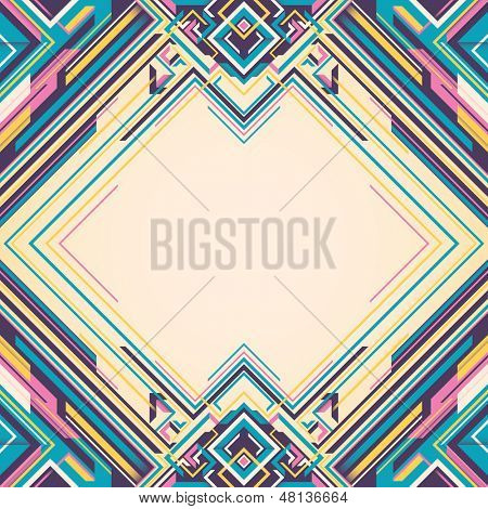 Futuristic layout with abstraction. Vector illustration.