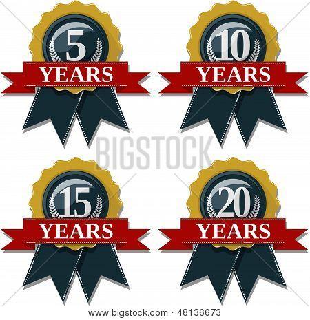 seal commemorating 5 10 15 20 years