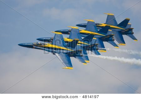 The Us Navys Blue Angels Do A Formation Flyby At 400 Mph
