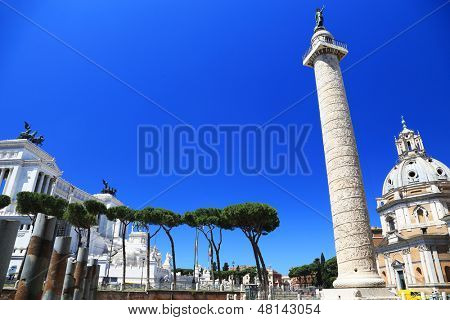 Columna Traiana in Rome, Italy, Europe