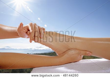 Foot Massage Concept
