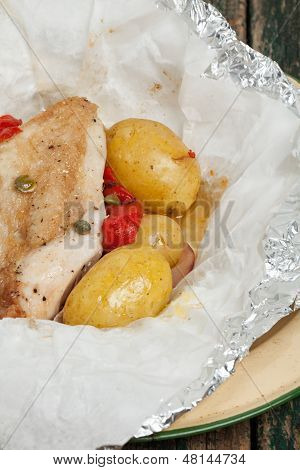 Chicken Cooked In A Bag