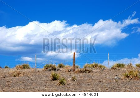 Pasture Fence Against The Sky