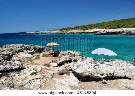 coastline landscape, Porto Selvaggio, Italy