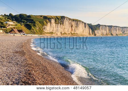 Normandy Coast With White Cliffs, Near Fecamp, France