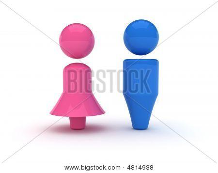 Hombres y mujeres símbolo