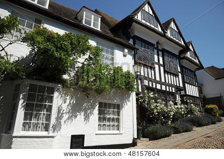 Historic village cottages. Rye West Sussex.