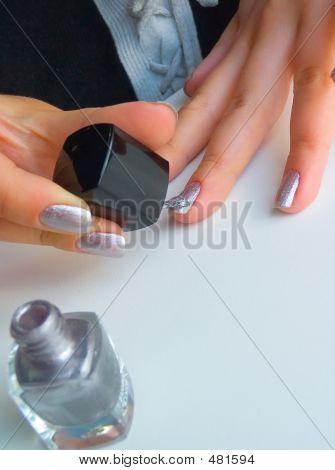 The Girl Varnishs Nails