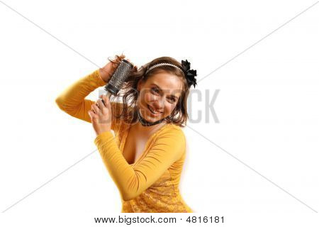 Stylish, Attractive Young Woman Holding Fashion Accessories