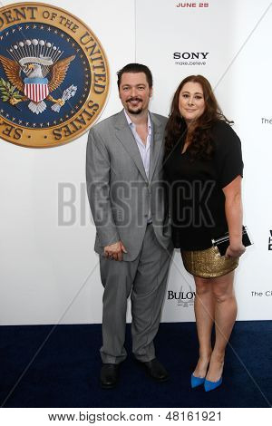NEW YORK-JUNE 25: Producer/screenwriter James Vanderbilt and guest attend the premiere of