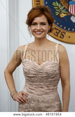 NEW YORK-JUNE 25: Actress Carla Gugino attends the premiere of