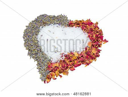 Fragrant Heart With Lavender And Rose Petals