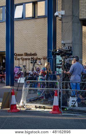 Television reporter at Royal hospital