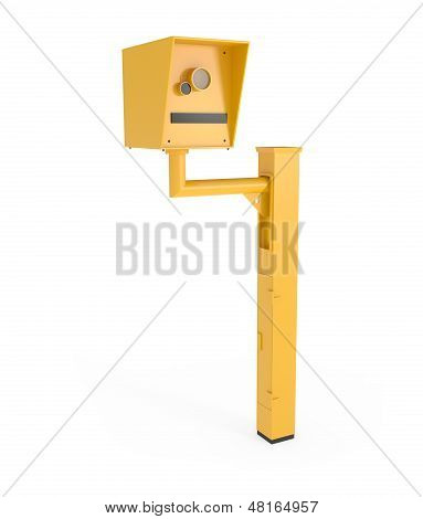 Road Speed Camera Isolated On White