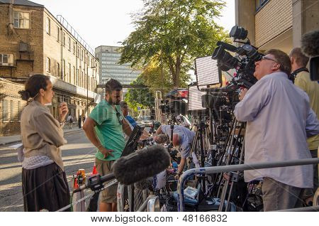 Television Cameras at St Mary's Hospital
