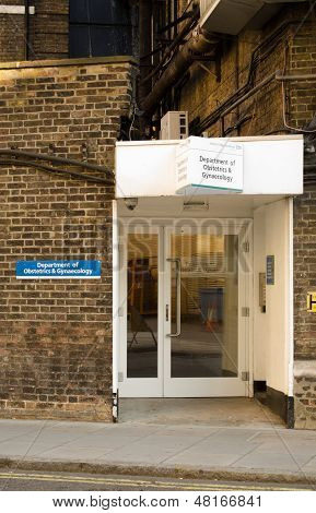 Obstetrics entrance, hospital, Paddington