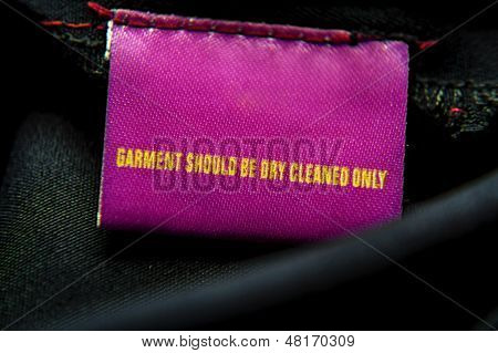 Specific Dry-cleaning Instruction