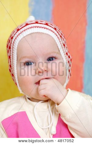 Small Caucasian Girl Infant Is Dared.