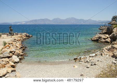 Beach In Agios Nikolaos, Crete Island