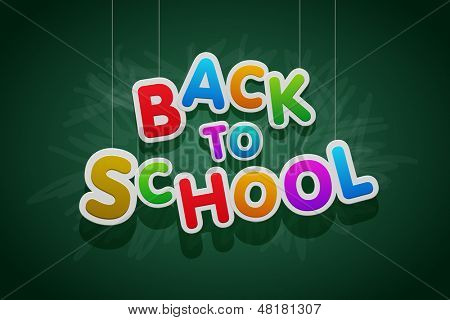 "Vector multicolored ""Back to School"" text."