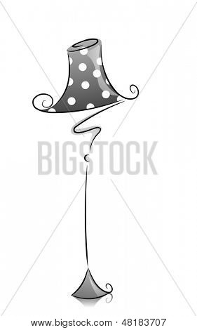 Illustration of Lampshade in Black and White