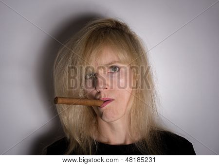 A Woman And Her Cigar