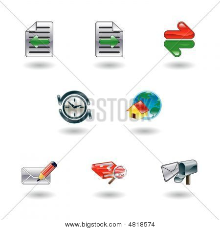 Shiny Internet Browser Icon Set