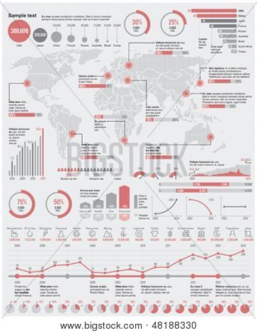 Vector economical and  industrial infographic elements