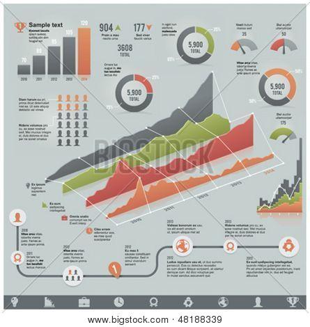 Infográfico elementos relacionados aos negócios de vetor