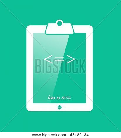 Conceptual illustration of a clipboard tablet.