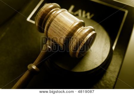 Law Book And Gavel Duo